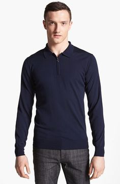 Salvatore Ferragamo Half Zip Polo Sweater