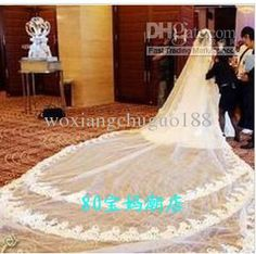 Wholesale Long trailing veil bridal accessories bridal veil 5-12 meters long, Free shipping, $57.12-66.08/Piece | DHgate