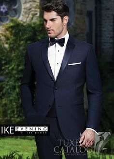 "<p style=""text-align: left;"">In recent years, one of the most emergent trends in men's formal wear has been the popularity of dark blue tuxedos and suits. To answer that growing need, Ike Behar Evening has developed some beautiful navy formal options!</p> <p style=""text-align: left;"">The Navy 'Sebastian' Tuxedo is a fantastic formal option for anyone looking for a clean and simple navy tuxedo. Featuring a two button front, satin notch lapels, satin besom pockets, side vents, slim fit…"