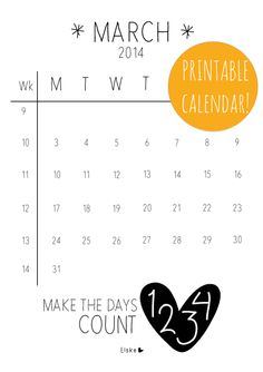 March - #printable calendar | Elske | www.elskeleenstra.nl