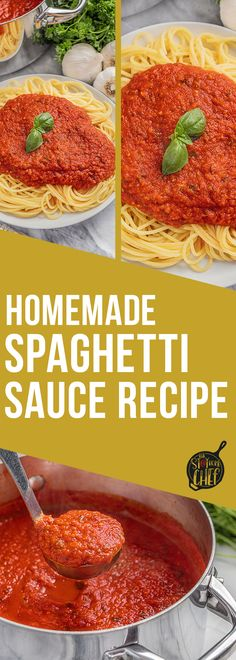 This Homemade Spaghetti Sauce recipe is so full of flavor and it's easy to make it in large batches! It is perfect for freezing or canning for easy homemade meals that are prepared ahead, and make weeknights easy once again!