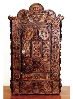 Tramp Art Medicine Cabinet.