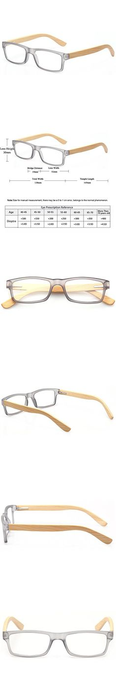 3d021353fc997 Reading Glasses Quality Men and Women Readers With Sun Readers Bamboo  Temples Eyeglasses (Gray Frame Clear Lens, 2.0)