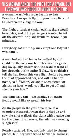 This Woman Asked The Pilot For A Favor But Everyone Was Shocked When He Did This funny jokes story lol funny quote funny quotes funny sayings joke hilarious humor stories funny jokes