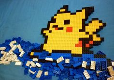 LEGO: Surfing Pikachu_3 by Meufer
