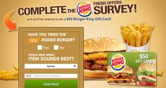 Free $50 Burger King Gift Card!