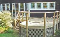 Rope Deck Railing Ideas and Wooden Posts: 12 Breathtaking Rope Deck Railing Ideas