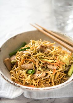 This real Chicken Chow Mein recipe really is restaurant quality. It all comes down to the sauce! This is faster than ordering take out - and much healthier!