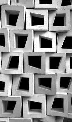 """""""Casting Architecture"""" - Relooks the Humble Ventilation Block in Tropical Design Handmade tiles can be colour coordianated and customized re. shape, texture, pattern, etc. by ceramic design studios Decorative Concrete Blocks, Design Tropical, Tropical Interior, Beton Design, Facade Architecture, Tropical Architecture, Contemporary Architecture, Installation Architecture, Beautiful Architecture"""
