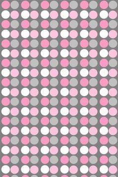 Pink  Gray polka dot wallpaper Wallpaper. Phone background. Lock screen.