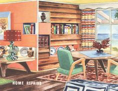 1950s interior design and decorating style - 7 major trends