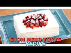 Inspirational ETON MESS TORTE Recipe! - YouTube Easy White Bread Recipe, Bread Recipes, Fun Recipes, Party Recipes, Party Desserts, Dessert Party, Torte Recipe, Eton Mess, Good Food