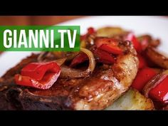 Pork Chops with Peppers, Onions & Potatoes | Gianni's North Beach