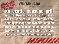 Wurstküche, Los Angeles CA