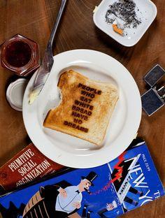 """People Who Eat White Bread Have No Dreams"" by Simon Fujiwara"