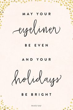 We wish you the most glamorous and cheerful holiday season! Try a gold eyeliner look perfect for New Year's Eve with Mary Kay At Play® Bold Fluid Eyeliner in Gold Metal! | Mary Kay