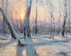 61 Trendy Winter Art Painting Oil On Canvas Painting Snow, Winter Painting, Winter Art, Winter Light, Painting Art, Watercolor Landscape, Landscape Art, Landscape Paintings, Watercolor Paintings