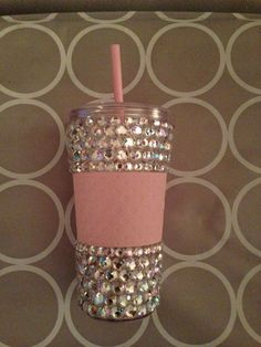 Rhinestone/Bling Cup by CreationsbyHall on Etsy, $19.99