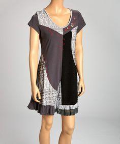 Look at this #zulilyfind! Black & Gray Zigzag Dress by Anuna #zulilyfinds