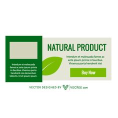 Eco Natural Product Banner Free Vector - https://vecree.com/1272404/eco-natural-product-banner-free-vector/