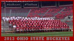2013 OHIO STATE BUCKEYES FOOTBALL TEAM.