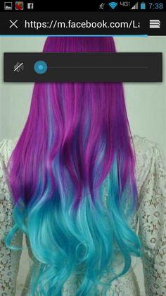 Mermaid fantasy hair