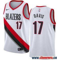 Men s Portland Trail Blazers  17 Ed Davis White Nike NBA Stitched Swingman  Jersey Ed Davis aa1306049
