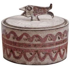 Ceramic box by Gustave Reynaud for Le Murier