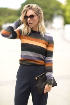 '70s Stripes  // Cupcakes and Cashmere
