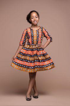 Menan Kid's Dress   African Clothing For Children   Grass-fields