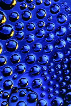 Cobalt blue glass beads and matrix.