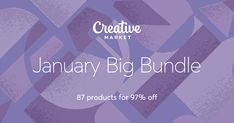 Graphic design awesomness!! Check out January Big Bundle on Creative Market
