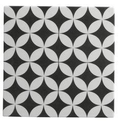 Carrelage sol et mur noir & blanc effet ciment Gatsby l.20 x L.20 cm #leroymerlin #carrelage #carreaudeciment #blackandwhite #ideedeco #madecoamoi