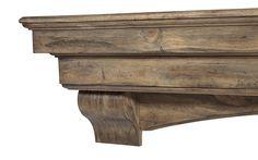 Pearl Mantels 48 inch Mantel Shelf Celeste Dune Pine 3pc 497-48-10