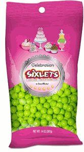 Celebration Sixlets - Lime Green
