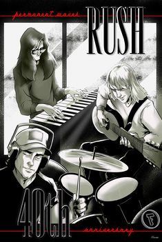 Rock Posters, Band Posters, Concert Posters, Rock And Roll Bands, Rock N Roll, Great Bands, Cool Bands, 40 Years Ago Today, Rush Albums