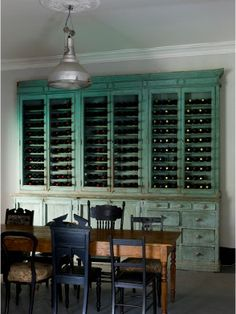 Wine Storage...I want this (the wine and the wine hutch)