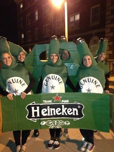 A six-pack. | 32 Ridiculously Clever Group Halloween Costumes