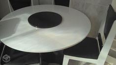 Mesa redonda c/ 4 cadeiras p/ cozinha