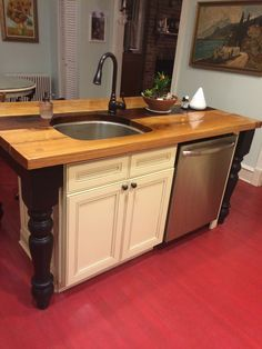 Small Kitchen Island With Sink | Island With Sink And Dishwasher | Kitchen  | Pinterest | Dishwashers, ...