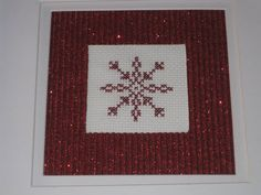 Red Snowflake by CrumbsandBirds on Etsy, $22.00