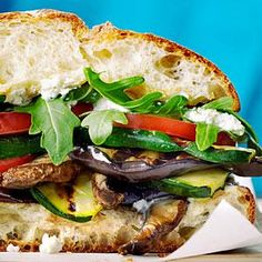 How To Make Grilled Mediterranean Vegetable Sandwiches Recipe Burgers and Sandwiches