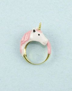Pink Unicorn Ring // hilariously cute #designtrend #wearabledesign