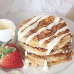 Cinnamon Roll Pancakes with Cream Cheese Glaze 📲 Save this recipe on our app! Link in bio.⠀ INGREDIENTS:⠀ 1 cup all-purpose… Cinnamon Roll Pancakes, Cinnamon Rolls, Cream Cheese Glaze, Goodies, Breakfast, Ethnic Recipes, 1 Cup, Purpose, Food