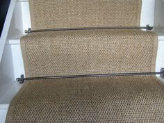 natural sisal flatweave stair runner with Jute border..really want to do this on our stairs