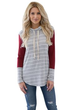 women sweatshirts hoodie stripes casual