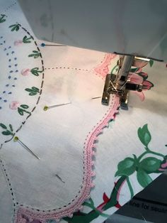Making a quilt with vintage linens