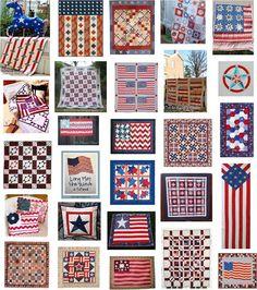 Many free patriotic quilt patterns,  Quilt Inspiration