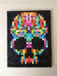 """Bilderesultat for """"sugar skull perler bead patterns"""""""