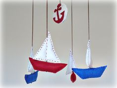Felt sailboat mobile